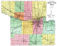Shawnee County Outline Map, Shawnee County 1921